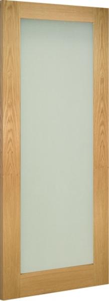External Oak Veneer Doors Frosted Glass